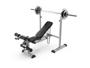 weight lifting bench 3D model