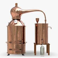 Vintage Copper Distiller Alambic Moonshine
