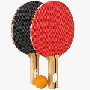 real ping pong paddles 3D model