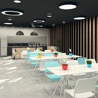 Cafeteria and Terrace Garden Interior