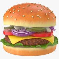 Burger Cartoon PBR