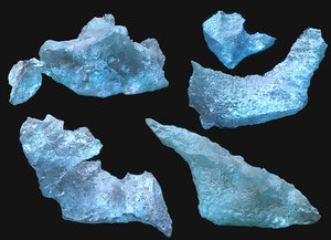 ice iceland packed 3D model