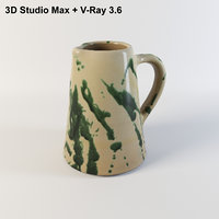 ceramic water jar 3D model