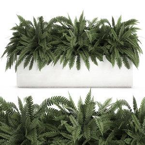 ornamental interior white pots 3D