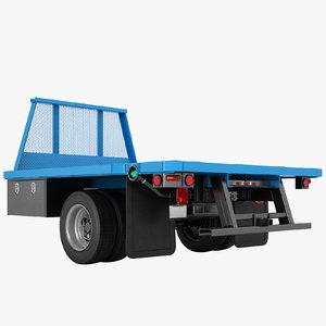 flatbed dump truck 3D model