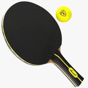 3D real ping pong paddles
