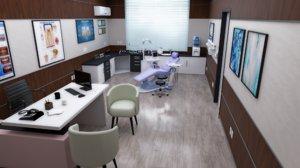 3D dentist office doctor dental clinic
