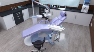 3D dentist office doctor dental clinic