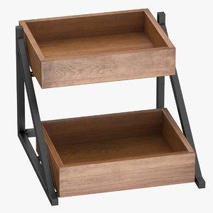 merchandise display rack 01 3D model