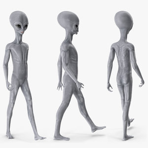 alien rigged character model