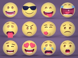 3D emoticon emotion pack model