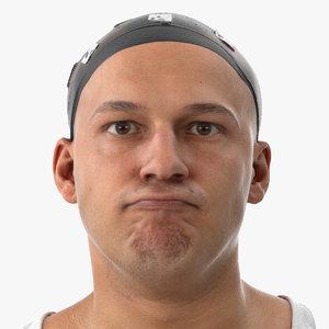 3D marcus human head chin