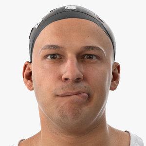 marcus human head lip 3D