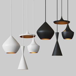 3D model beat light chandelier set