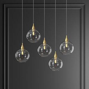 3D firefly 5 bulb black model