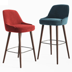375 walter knoll bar stool 3D model