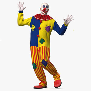 3D bald clown rigged