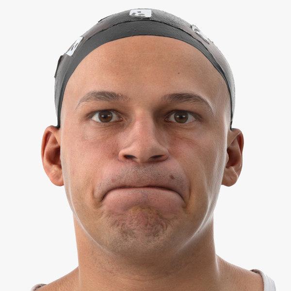 marcus human head cheek model