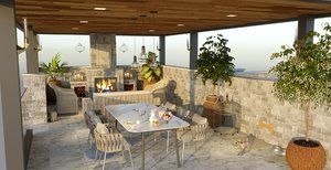 garden terrace design model
