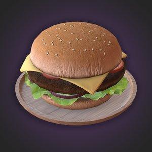 food beef burger 3D model