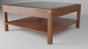 wooden table 3D