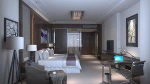 3D hotel room interior