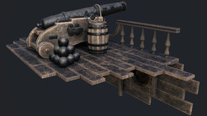 cannon persian 3D model