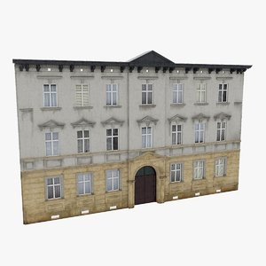 3D xx residential building facade model