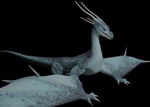 3D model dragon animation flying