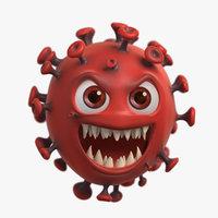 Covid-19 Coronavirus Cartoon Character