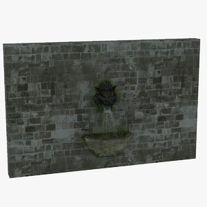 3D stone wall tiger head