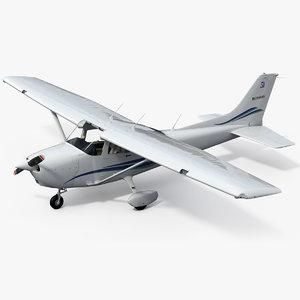 3D cessna skyhawk 172 model