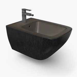 3D model bidet designed pbr