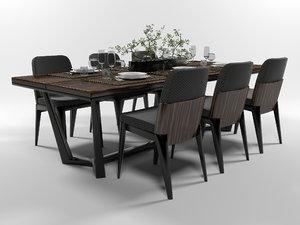 serving dining furniture set 3D
