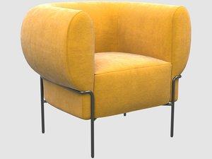 3D madda lounge chair kelly model