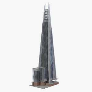 3D shard skyscraper model