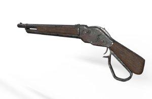 3D model winchester 1887 modeled