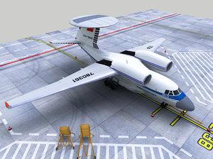 aircraft ussr awacs 71 3D model