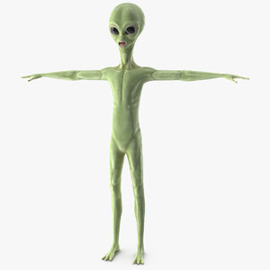 alien cartoon model