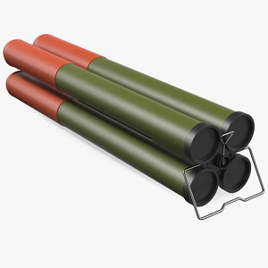 incendiary rocket 66 mm 3D model