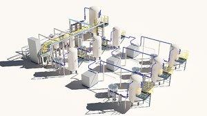 3D refinery architecture model