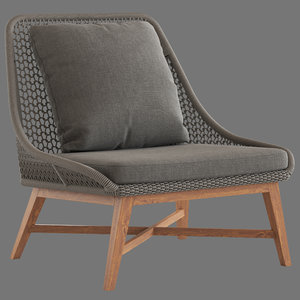 crisal decoration roxas chair 3D model