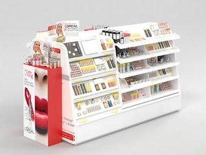3D loreal paris cosmetics stand
