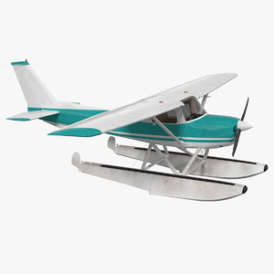 3D light floatplane aircraft airplane