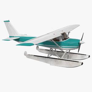 3D light floatplane aircraft airplane
