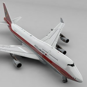boeing 747 taag angola 3D model