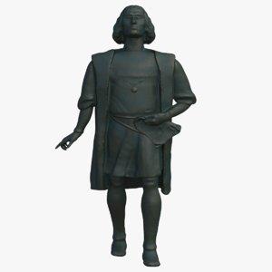 3D columbus statue model