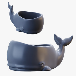 3D figurine printing whale
