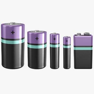 3D battery c model