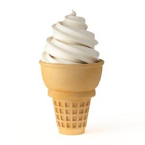 ice cream soft serve 3D model